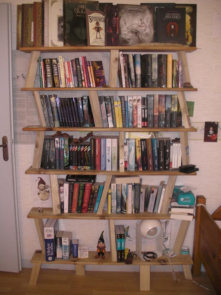 etag re biblioth que recyclage par jeanco77 sur l 39 air du bois. Black Bedroom Furniture Sets. Home Design Ideas