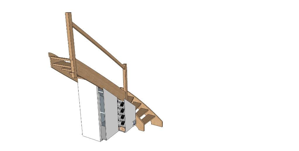 plan penderier et rangement chaussure sous escalier par. Black Bedroom Furniture Sets. Home Design Ideas