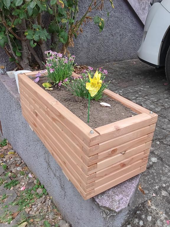 bac en bois pour fleur