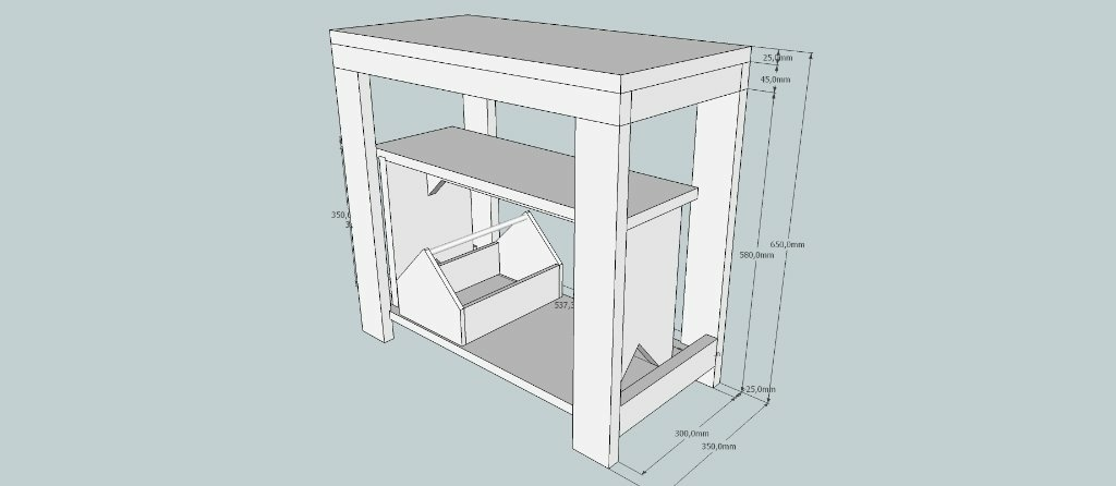 plan etabli pour enfant avec banc int gr et caisse outils par bernino sur l 39 air du bois. Black Bedroom Furniture Sets. Home Design Ideas