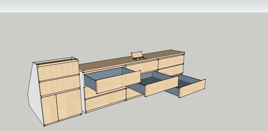 plan commode sous pente par siywebwa sur l 39 air du bois. Black Bedroom Furniture Sets. Home Design Ideas