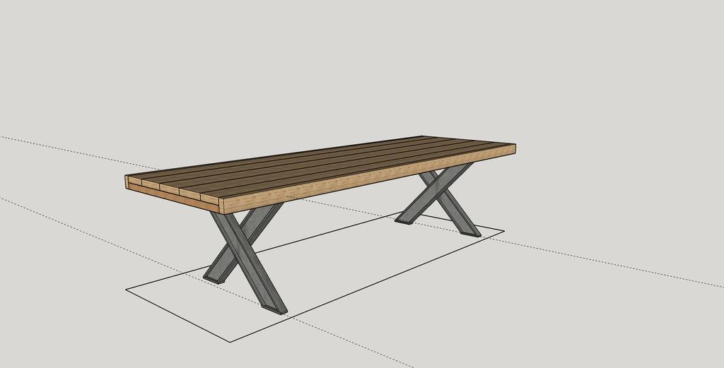 plan table de salon pieds en fer par lexop sur l 39 air du bois. Black Bedroom Furniture Sets. Home Design Ideas