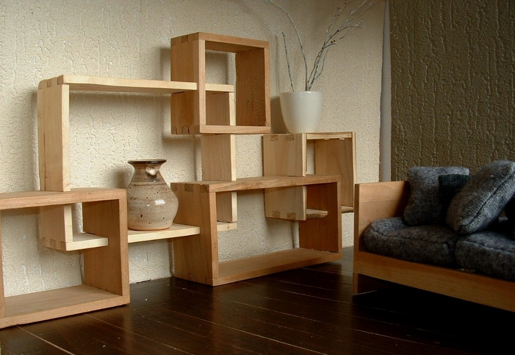 biblioth que modulable en bois massif par sarahlalala sur l 39 air du bois. Black Bedroom Furniture Sets. Home Design Ideas