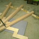 Descente d'escalier Metal et bois