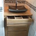Meuble de salle de bain en ch ne massif par mikabois sur l - Meuble salle de bain en chene massif ...