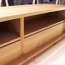 meuble tv en ch ne massif par boris beaulant sur l 39 air du bois. Black Bedroom Furniture Sets. Home Design Ideas
