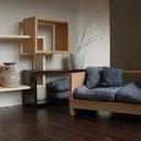 Bibliothèque modulable en bois massif