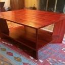 Table basse en padouk