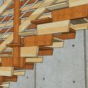 détail de poteau intermédiaire pour rigidifier l ensemble