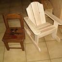 Petit fauteuil à bascule