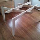 Table Frêne et plateau en verre: 1er mongage
