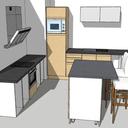 Rénovation d'une cuisine en frêne