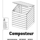 plan composteur triple bacs par zorro sur l 39 air du bois. Black Bedroom Furniture Sets. Home Design Ideas