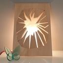 """Lampe """"Alien"""" en position verticale"""
