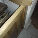 Cofre à bois avec une niche