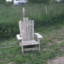 fauteuil de jardin en palette