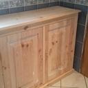 Meuble de salle de bain réalisé avec des palettes il me reste juste à le mettre en couleur