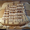 Intarsia un voilier