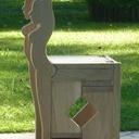 Chaise escabeau
