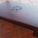 Table basse tatajuba massif / insert / sculpture