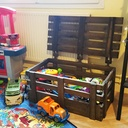 Caisse à jouet banc