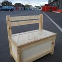 Coffre jouets multifonctions par travaillerlebois sur l - Fabriquer un coffre a jouets simple et rapide en bois ...