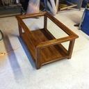 Petite table basse vitrée