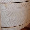 détail du tiroir en ogive