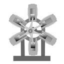 Mini moteur étoile