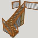 Plan d étude pratique d escalier une volée à quartier tournant à droite au depart
