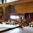 Mécanique de réglage de hauteur de lame de scie sur table DIY