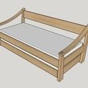 Lit-canapé pour cabane