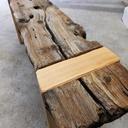Une vieille planche pour un petit banc