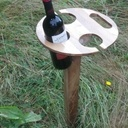 Support de bouteille pliable 'folding wine stand'