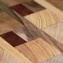 Billot en bois de bout composé de 7 essences nobles
