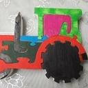 Puzzle tracteur peint