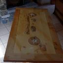 Table à manger en mélèze et pin cembro