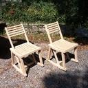 Fabrication d'une chaise à bascule réversible