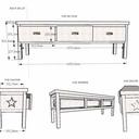 Un joli banc de lit étoilé