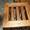Bac a linge avec chene récupéré sur la carcasse d'un vieux divan
