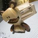 Figurine En Bois Decorative