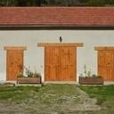 La façade une fois terminée...remarquer les fausses poutres... en chêne de 45mm