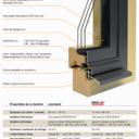 détail d'une fenêtre bois - métal