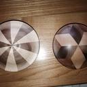 Petites boîtes tournées en bois segmenté