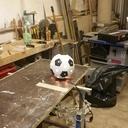 Voici  le prototypes fini de mon ballon en bois