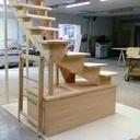 Escalier pour un petit duplex