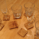 Sous verres en chêne, DIY dessous de verre
