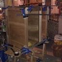 Meuble informatique en bois de récupération