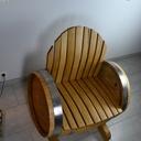 Utilisation d'une barrique pour un fauteuil