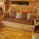 Lit-canapé pour cabane insolite